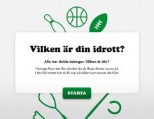 Vilken är din idrott?